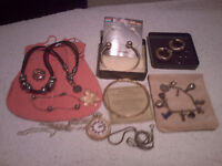Vintage and Modern Costume jewellery, Mixed lot of Silver/gold rolled and Costume