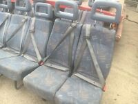 CREW CAB SEATS WITH SEAT BELTS, BENCH SEATS, FITS, TRANSIT,IVECO, LDV, VAUXHALL,RENAULT...