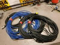 Xlr microphone cables, jack guitar cables, adaptors