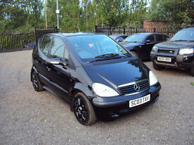 MERCEDES-BENZ A CLASS A140 1.4 CLASSIC BLACK 5DOOR VERY LOW MILEAGE LONG MOT 2 KEYS SERVICEHISTORY