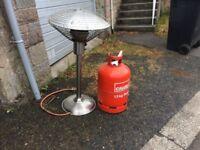 Patio heater plus 13kg propane gas. Good condition