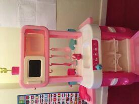 Childrens ELC pink kitchen