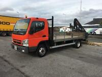 Mitsubishi Fuso Canter with rear mounted crane