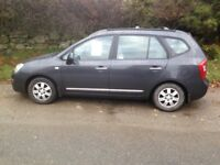 Kia Carens 7 Seater. 76200 miles. MO T Sep 18. FSH. GC. Drives well and is a good family car