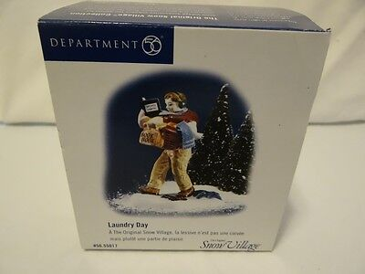 Dept 56 Snow Village Laundry Day Figurine 56-55017