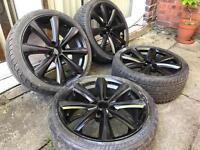 "17"" Alloy wheels with Tyres 4x108 Ford Fiesta Focus Sierra Puma Escort Mondeo Ka"