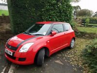 Suzuki Swift 1.3 GL 3 door in Red, 53K miles, 09 reg