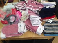 Large Bundle of brand NEW hats, scarves and accessories bargain!