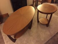 One coffee table and matching side table