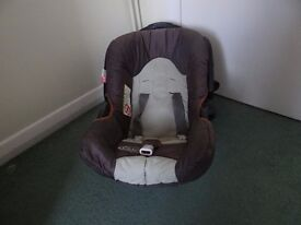 car seat is used but is in good condition