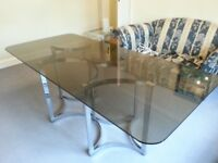 GORGEOUS GLASS DINING TABLE! BEAUTIFUL! WOW FACTOR!