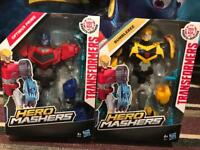 Transformers Hero Mashers and Cars - Optimus Prime and Bumblebee *Brand new*