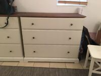 2 Large chest of drawers
