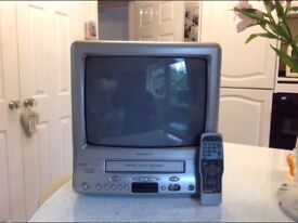 Colour Portable T.V With Built in VHS Recorder
