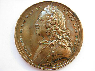 1750 George II medal, 55mm. Eimer 630.