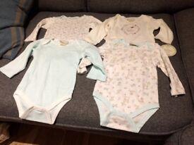 Brand new 4 bodysuits set 6-9 months 100% cotton