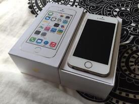 iPhone 5s 16GB gold unlocked boxed in like new condition