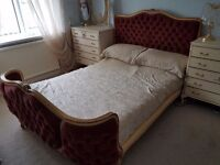 French double bed frame, beautifully made