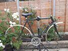 Vintage black steel bike frame