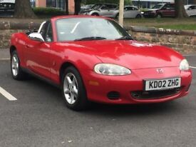 2002 MAZDA MX-5 1.8 * CONVERTIBLE * RED * PART EX WELCOME * DELIVERY * SUMMER BARGAIN