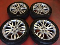 """21"""" GENUINE RANGE ROVER SPORT ALLOY WHEELS TYRES 5x120 VOGUE LAND DISCOVERY 3 4"""