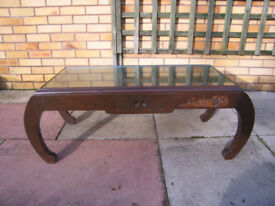 Antique Oriental camphor wood (mahogany) coffee table 1930s approx.