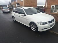 2007 BMW 3 SERIES 330D 3.0 SE TOURING ALPINE WHITE 2 OWNERS 6 SPEED.