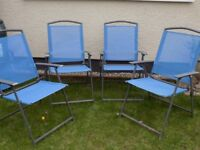 Set Of 4 Folding Chairs Strong and Sturdy