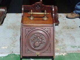 Antique coal box