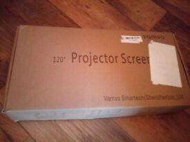 """Vamvo Outdoor Indoor Projector Screen 120"""""""