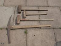 pick axe and sledge hammer x 3 £5 each