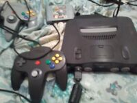 Nintendo 64 console and game