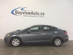 2013 Honda CIVIC LX- 1.8L! HEATED SEATS! A/C! BLUETOOTH! CRUISE!