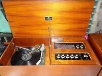 1970's Dynatron Turntable and Radio with two speakers