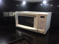 White Proline microwave good working condition!