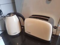 Russell Hobbs Toaster and Kettle (cream)