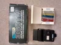 Nissin 360TW camera flash and filter pack, electronic flash unit