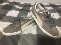 Puma Suede Grey Trainers Size 7.5