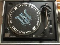 2 x Technics SL-1210s Mark 2 Black turntables / decks.