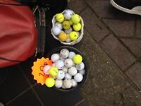 Golf balls joblot loads of different ones yellow white Nike Dunlop etc