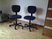 Pair of matching office swivel chairs