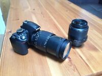 Nikon d3100 with AF-S 18-55mm and Sigma 28-200mm