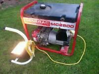 Generac mc2500 petrol generator honda gx160 engine 110v and 240v outlets