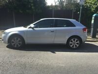 AUDI A3 SILVER FOR SALE ! NEW MOT VALID UNTIL AUG 2017
