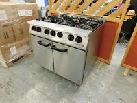 Falcon Dominator 6 Burner NAT Gas Oven Range - Commercial