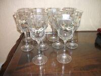 10 LOVELY ETERNAL BEAU WINE GLASSES