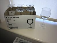 Joblot of IKEA Glasseware - Pint, Wine, Champagne, Jugs, Tealights