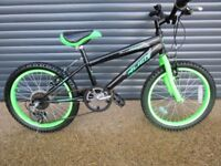 CHILDS ALIEN CONCEPT BIKE IN EXCELLENT LITTLE USED CONDITION.. (SUIT APPROX. AGE. 5 / 6+)..