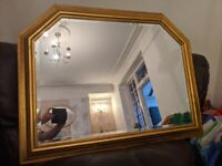 Large Gold Mantle mirror as new condition