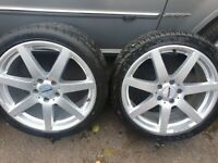 """18"""" Genuine Mercedes AMG Ronal alloys with 225 40 18 tyres. 5x112 vw audi caddy transporter."""
